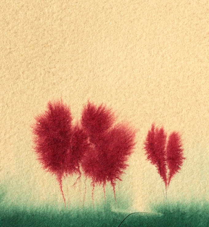 Watercolours: Red Dragon MapleTrees