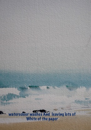 leaving white in watercolour
