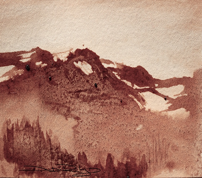 landscape painting in coffee debiriley.com