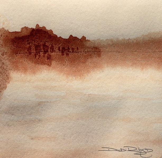 landscape in coffee, debiriley.com