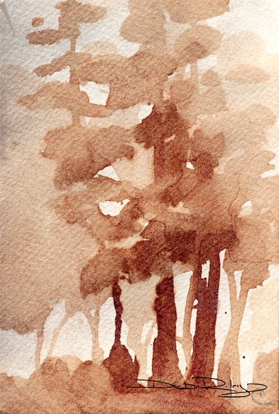 Coffee Painted Trees debiriley.com