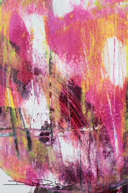 fuchsia magenta DIY gelli print, debiriley.com