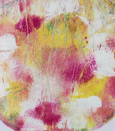 gelli print DIY, pinks florals, debiriley.com
