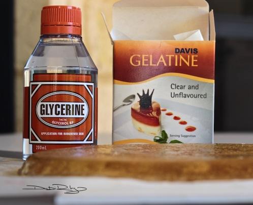 DIY gelli plate ingredients, debiriley.com
