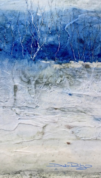 ultramarine pb29, landscape with moulding paste debiriley.com