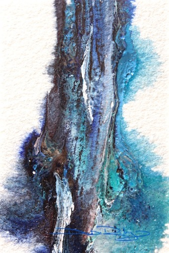 Watercolour Blues,cobalt teal blue pg50, Indanthrone blue  pb60 debiriley.com