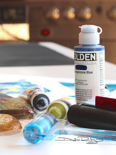 Fluid Acrylic paint techniques, debiriley.com