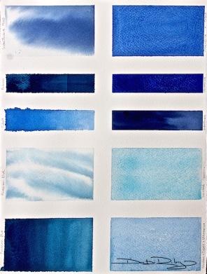 Blue Paints chart, debiriley.com