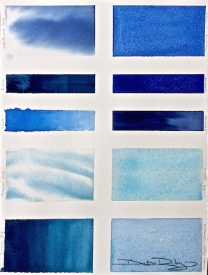 Blue Paints chart, debiriley.com