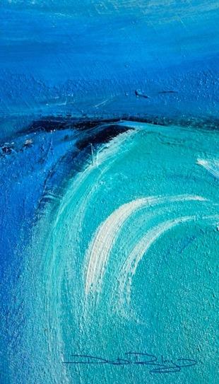 Ocean, oil painting, cobalt teal blue pg50, cobalt blue pb28, indanthrone pb60, debiriley.com