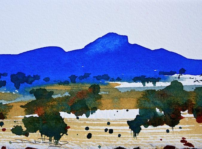 Ultramarine Mountain landscape debiriley.com
