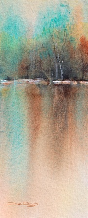cobalt teal blue pg50, reflections, landscapes, watercolor tips, beginners guide, debiriley.com