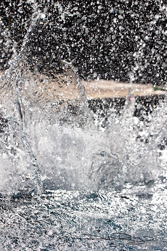 fun splashing in the pool water, debiriley.com