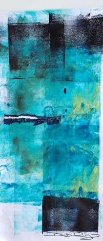 cobalt teal blue pg50 and indigo abstract acrylic painting