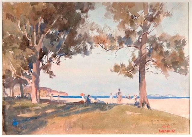 B. E. Minns watercolour landscape, debiriley.com