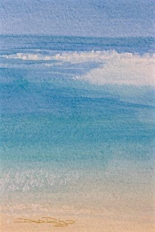 watercolour ocean shores, debiriley.com