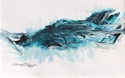 crashing ocean waves, debiriley.com