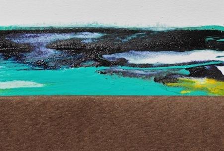 Ocean lagoon, acrylics, palette knife, debiriley.com