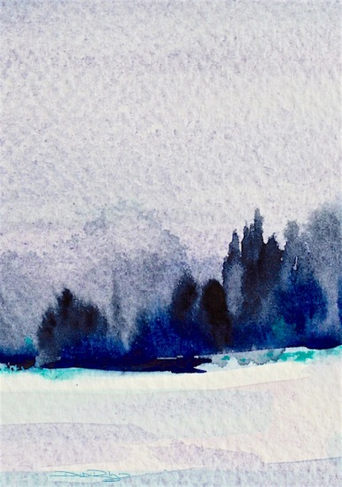 Creative zone, indigo watercolour landscapes, debiriley.com