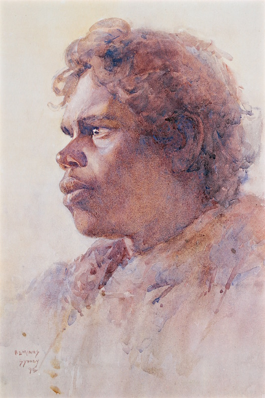 BE MINNS watercolour Aboriginal, AGNSW
