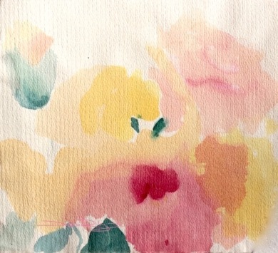 Imagine Monday, flower painting watercolor, debiriley.com