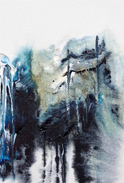 watercolor art lessons, palette knife, debiriley.com