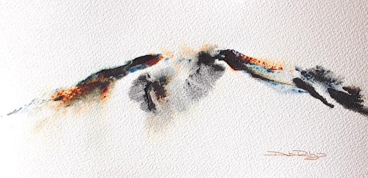 watercolor pairings, lunar black, sienna, debiriley.com