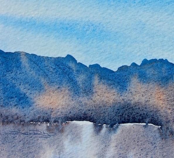 beginners watercolor lesson, techniques, debiriley.com