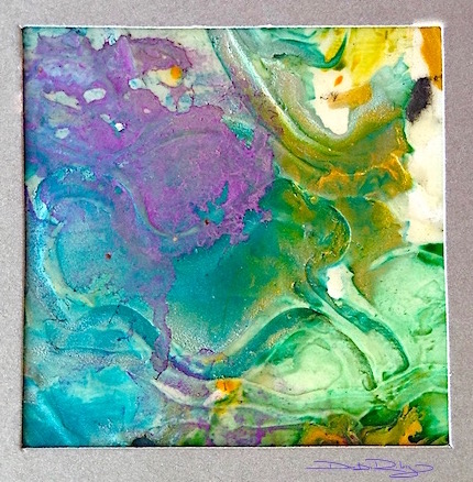 cool purple watercolor textures, viridian green, teal, debiriley.com