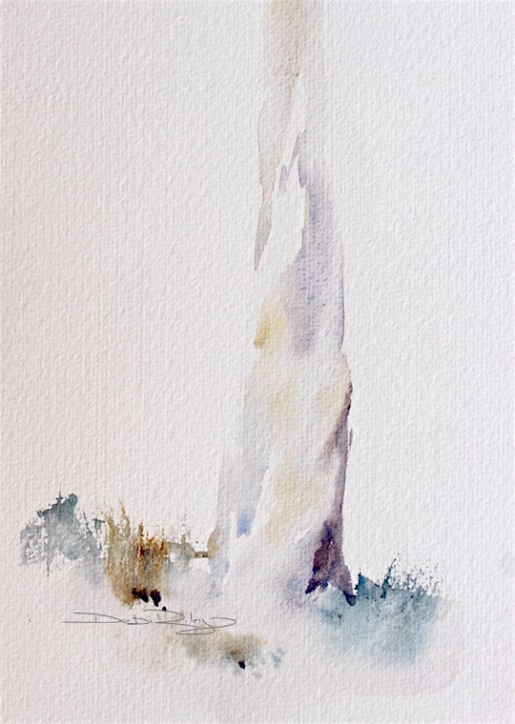 watercolor tree bark, simple tree painting, debi riley