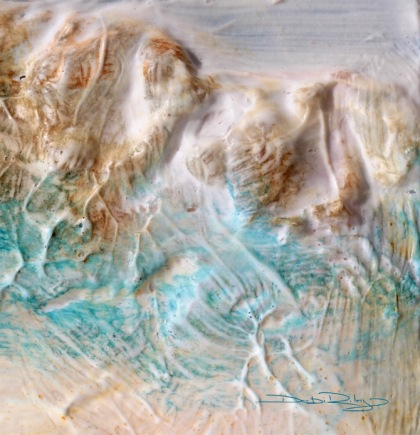 cobalt teal blue pg50, textural effects and techniques, cobalt teal painting, debiriley.com