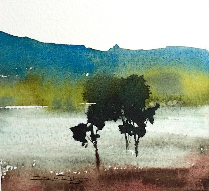 Wednesday Watercolor: TreeTechniques