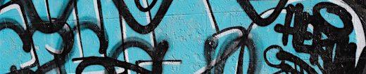 graffiti is art, cobalt teal blue design, new perspectives in art, debi Riley art