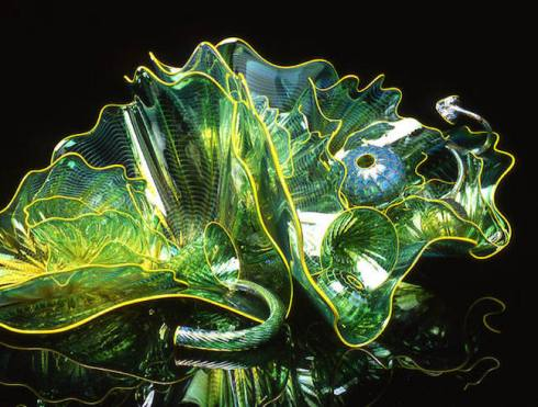 green bowl, Chihuly bowl, color, debiriley.com