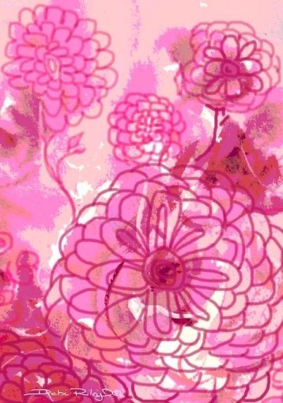 pastel watercolor digital painting, fun funky art, debiriley.com