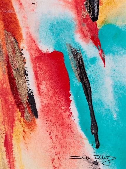 splash of cobalt paint, abstract painting, debiriley.com
