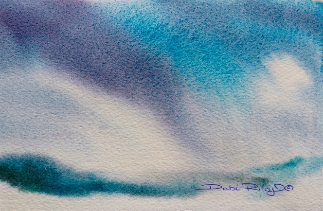 storm clouds, sky painting watercolors, debiriley.com
