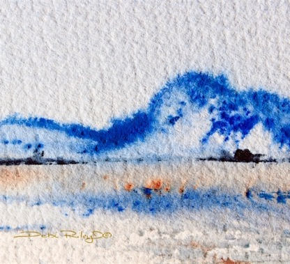 ultramarine blue hill watercolor, soft edges, debiriley.com
