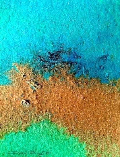 abstract tropical waters, debi riley, cobalt teal blue, emerald green, contemporary watercolor painting, debiriley.com