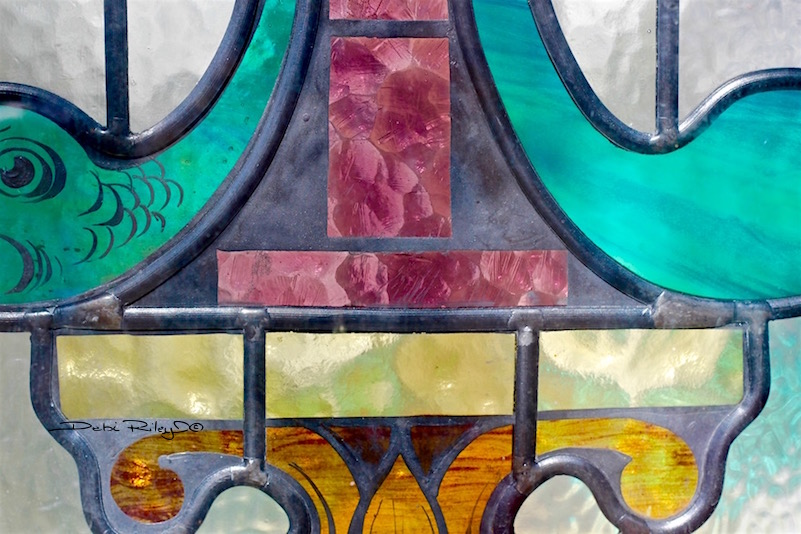 Balmain NSW colorful stain glass window, debiriley.com