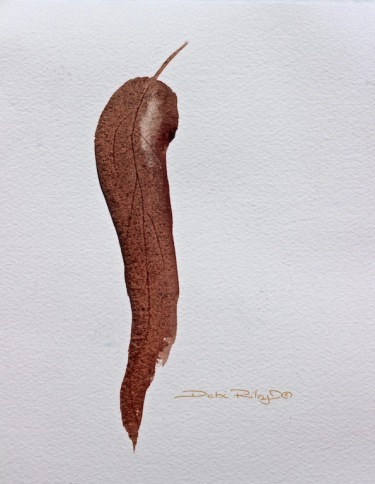 simply watercolors, Autumn leaf, debiriley.com