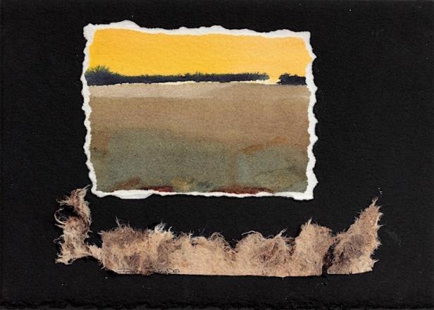 watercolor umber fields, painting debiriley.com