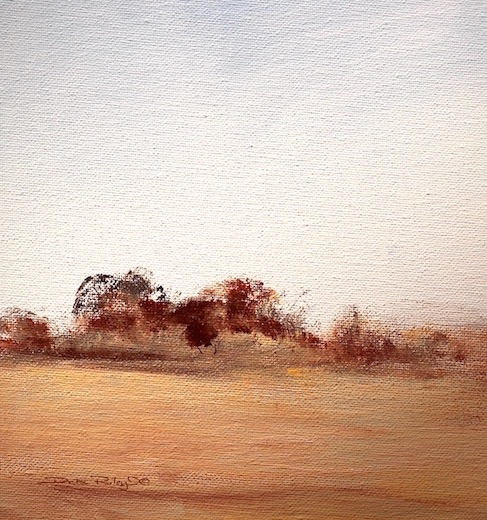 Bushland landscape in oils, debiriley.com