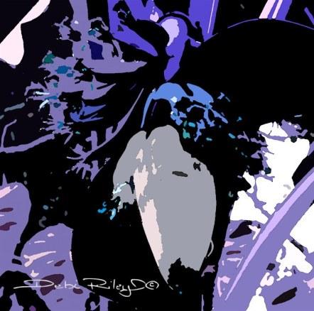 foliage in Lilac, digital painting, debiriley.com