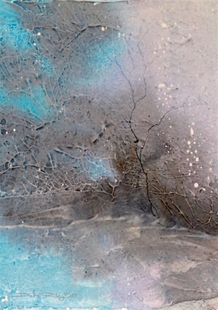 magical mists, watercolor painting, cobalt teal, debiriley.com