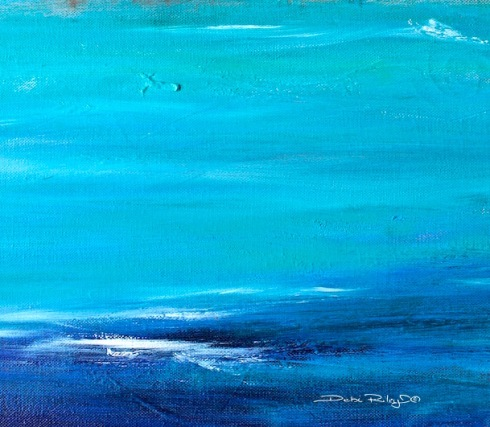 ocean waters painting, snippet, debiriley.com