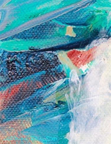 acrylic abstract green painting, Golden acrylic paints,  debi riley art, debiriley.com