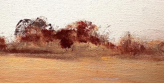 'Dry Bushland'  Landscape inOils