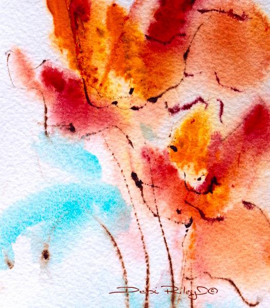 debi riley watercolor for beginners, cobalt teal blue, daniel smith watercolors, debiriley.com