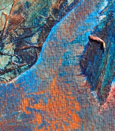 copper art snippet, collage, debiriley.com
